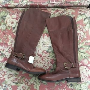 Marc Fisher Brown leather tall boots size 7 NEW